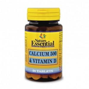 Calcio 500 y Vitamina D 50 comp. Nature Essential