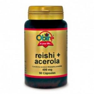 Reishi y Acerola 400 mg. 90 cápsulas Obire