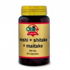 Reishi Shitake y Maitake 300 mg. 90 cápsulas Obire