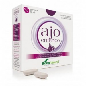 Ajo Entérico 900 mg 30 Comprimidos Soria Natural