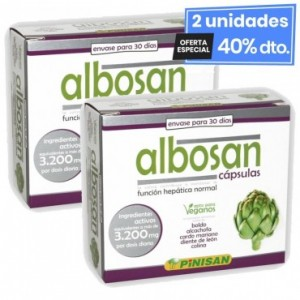 2 Envases de Albosan 60 Cápsulas Pinisan